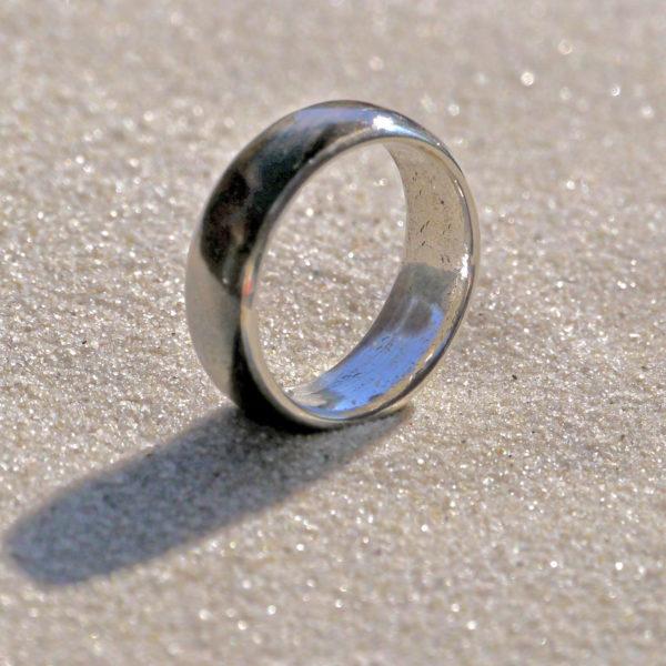 Ring Silber, Buckeye Burl
